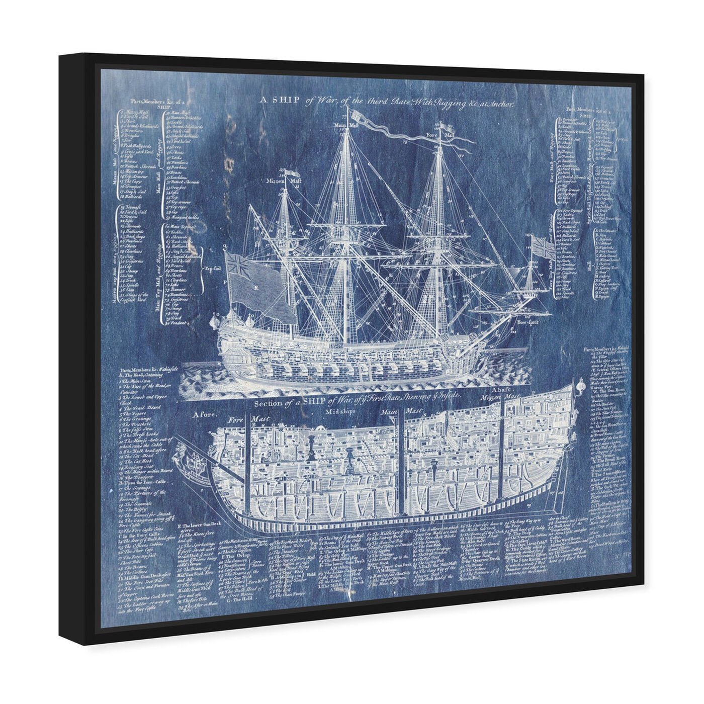 Angled view of Ship Vocabulary and Terms featuring nautical and coastal and nautical watercrafts art.