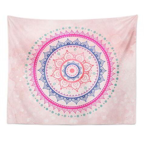 Bright Mandala Tapestry Art