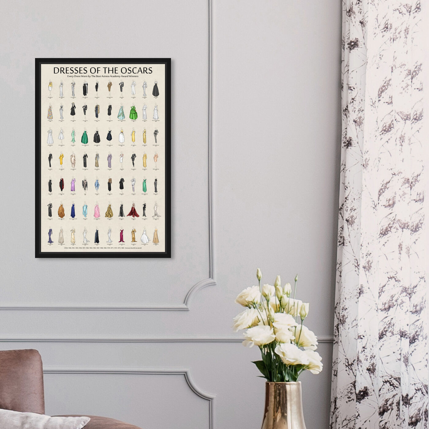 Hanging view of Oscar Dress Chart featuring fashion and glam and dress art.