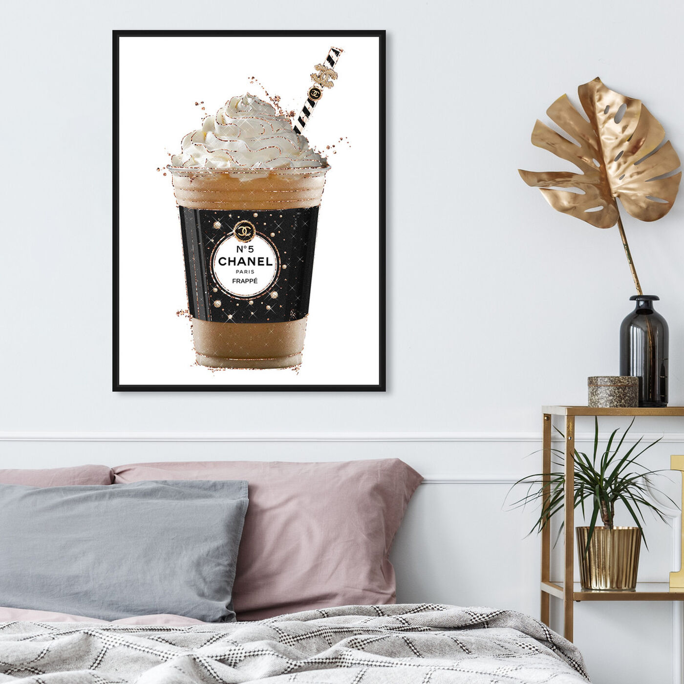 Hanging view of Pearly Coffee Drink featuring fashion and glam and lifestyle art.