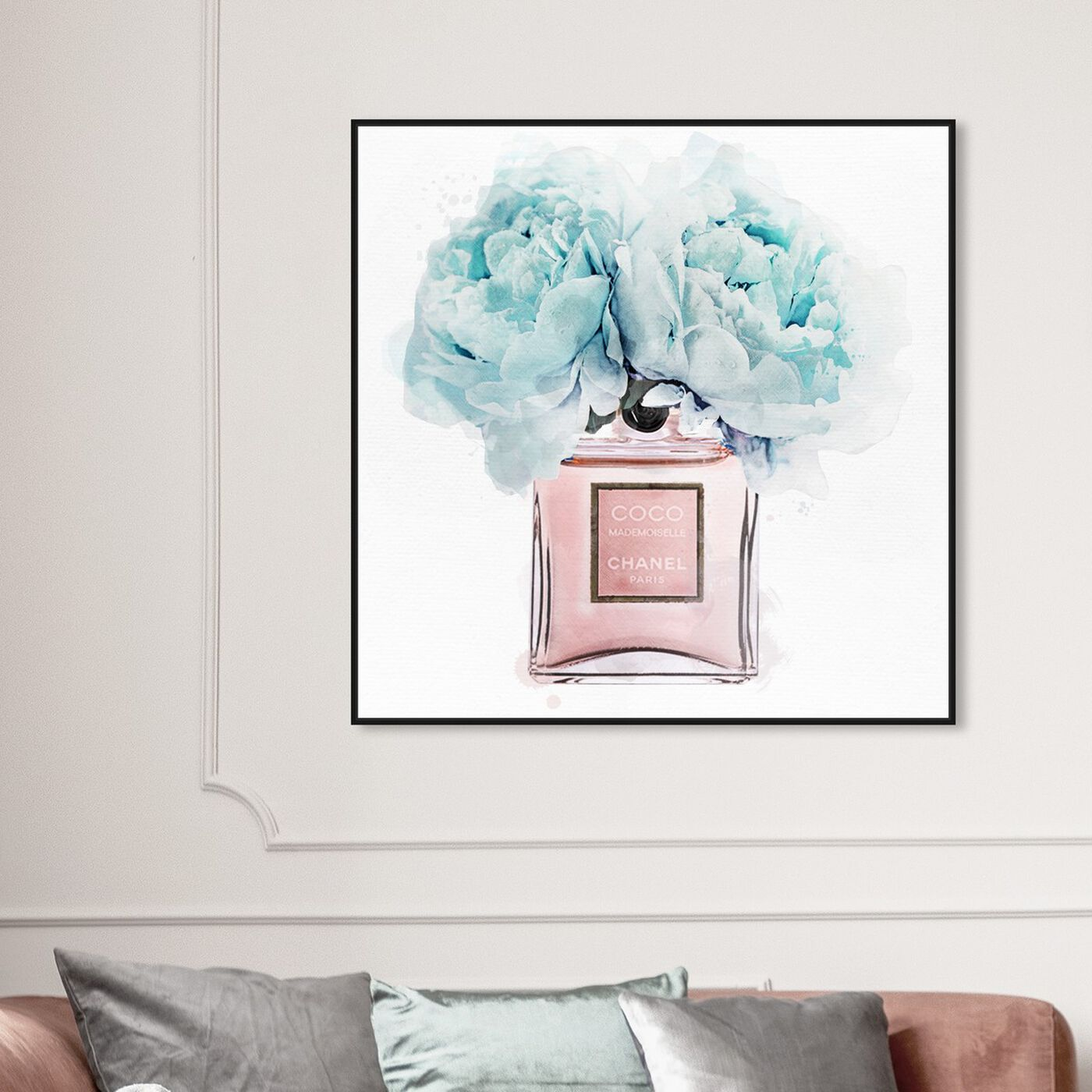 Hanging view of Dawn Morning Bouquet Blue featuring fashion and glam and perfumes art.