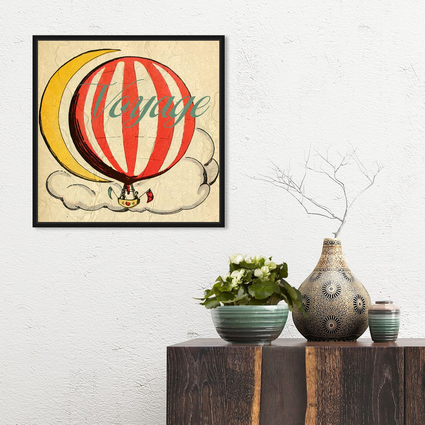 Hanging view of Voyage Enfants featuring astronomy and space and moons art.
