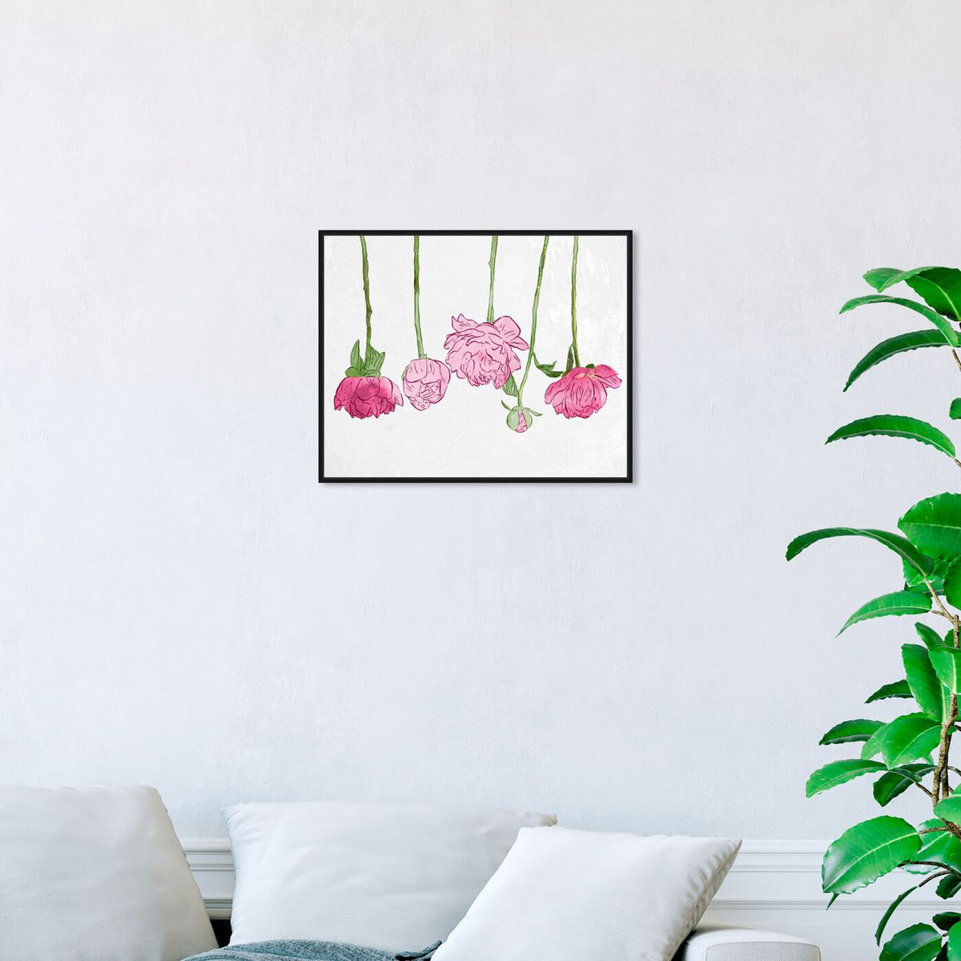 Hanging view of Hang Em Up To Dry I featuring floral and botanical and florals art.