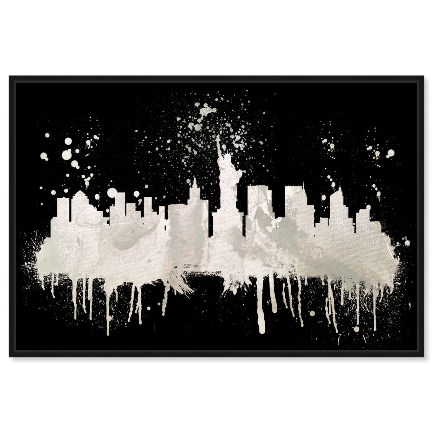 Front view of New York Skyline 2 I featuring cities and skylines and united states cities art.