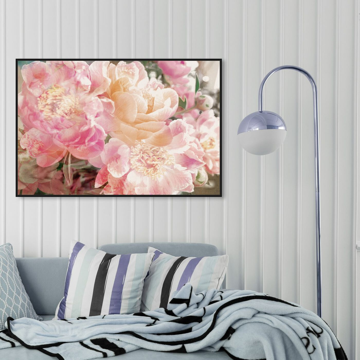 Hanging view of Peonies Know featuring floral and botanical and florals art.