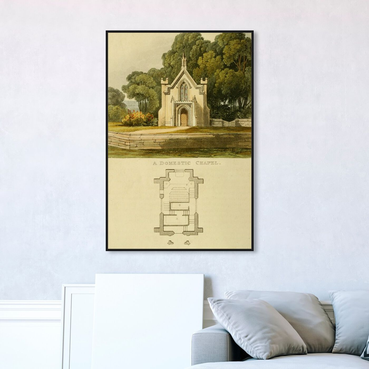 Hanging view of Domestic Chapel - The Art Cabinet featuring classic and figurative and classic art.
