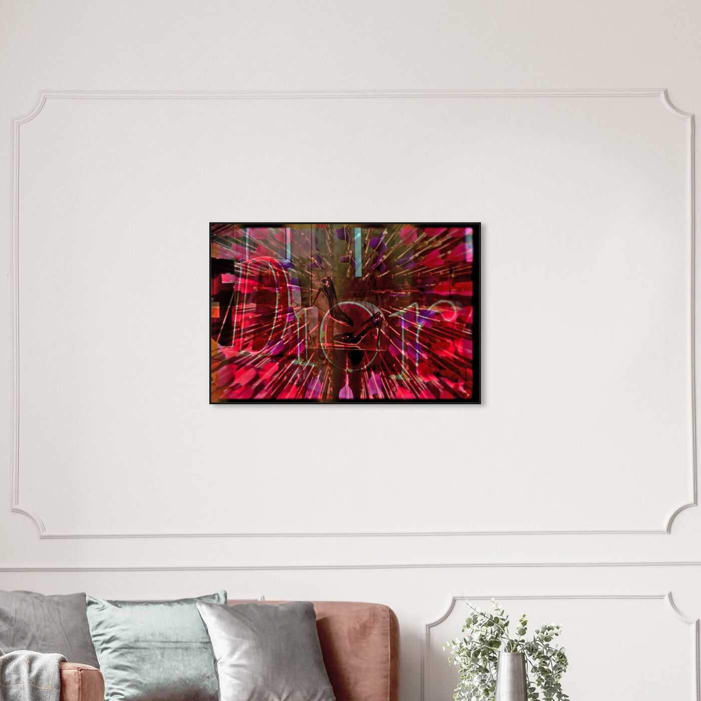 Hanging view of Love Struck featuring fashion and glam and lifestyle art.