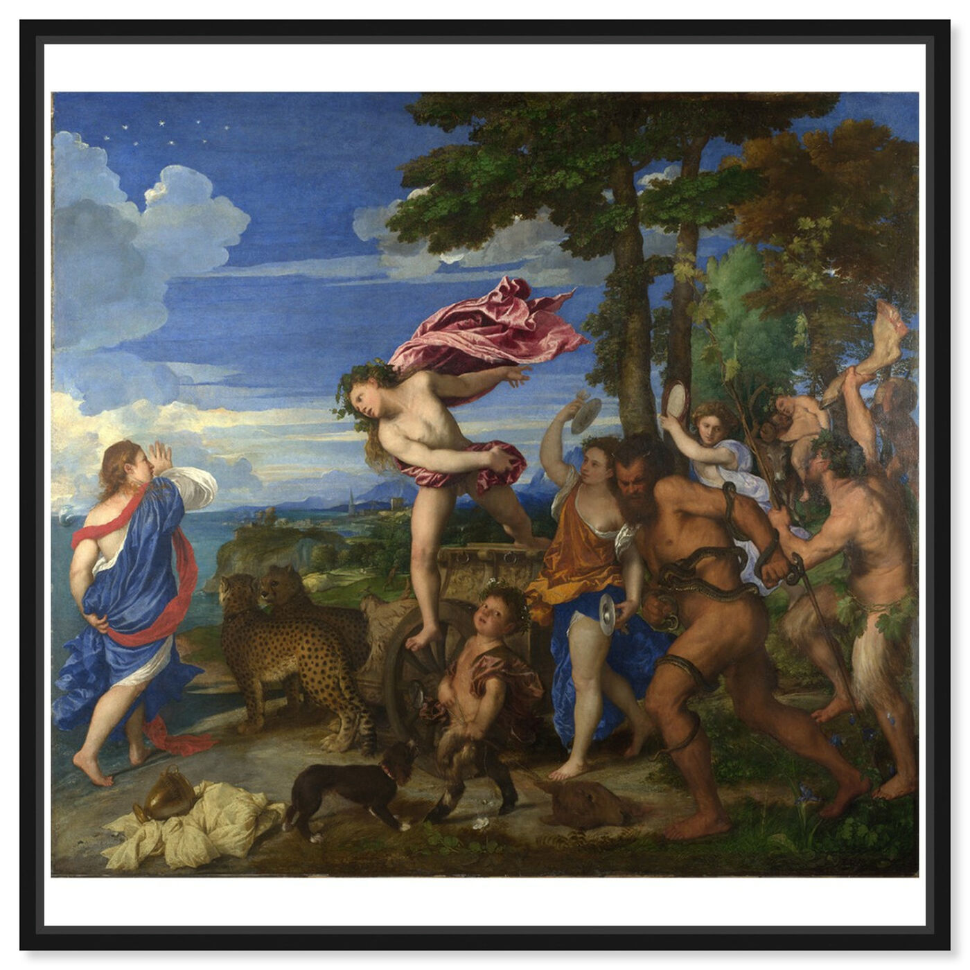 Front view of Titian - Bacchus and Ariadne featuring classic and figurative and renaissance art.