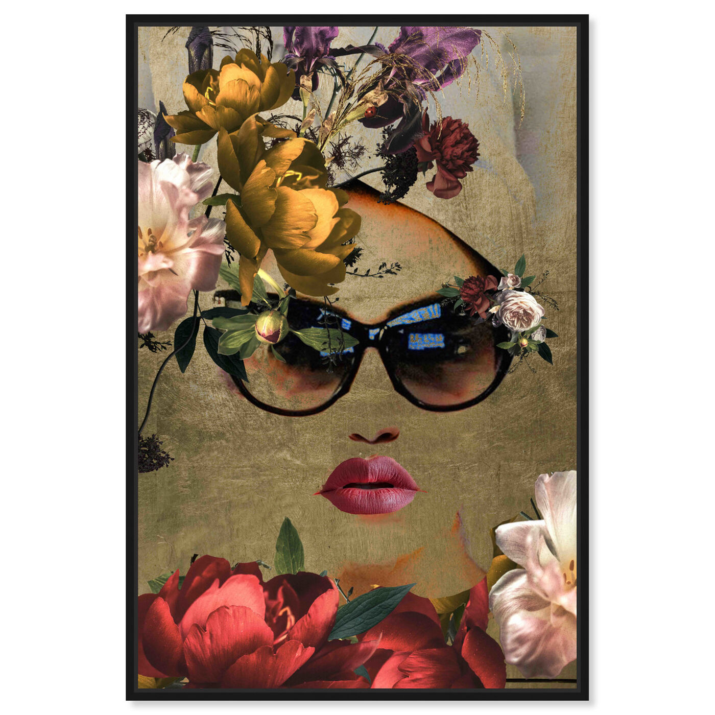 Front view of Mambo Queen featuring fashion and glam and lips art.