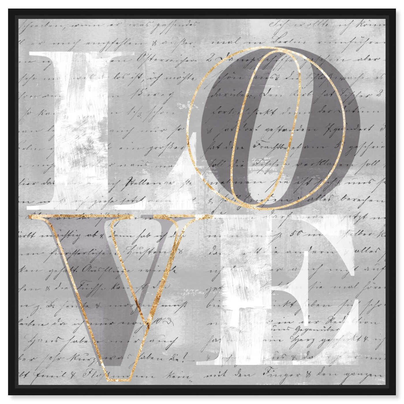 Front view of Double Love I featuring typography and quotes and love quotes and sayings art.