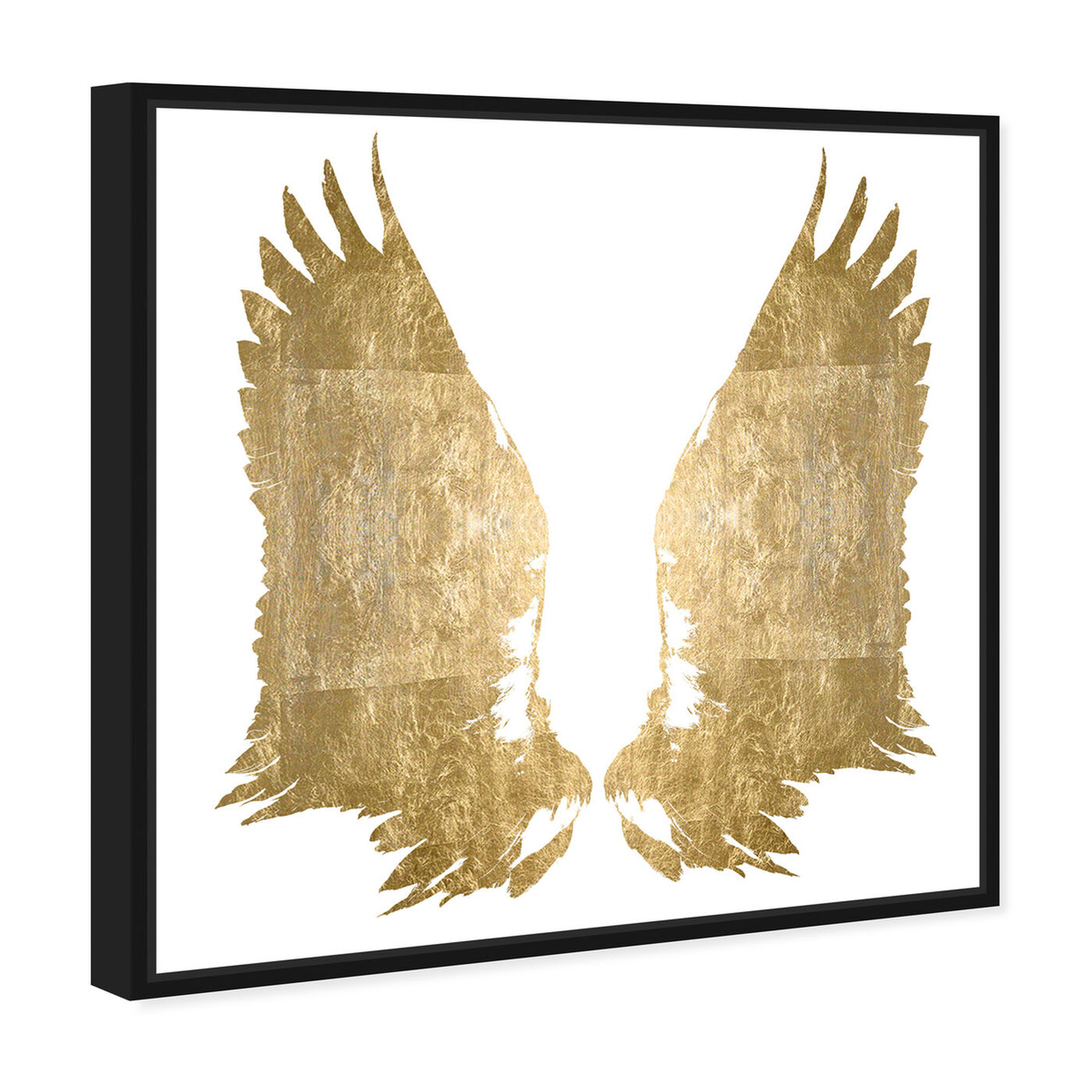 Angled view of My Golden Wings Gold Foil featuring fashion and glam and wings art.