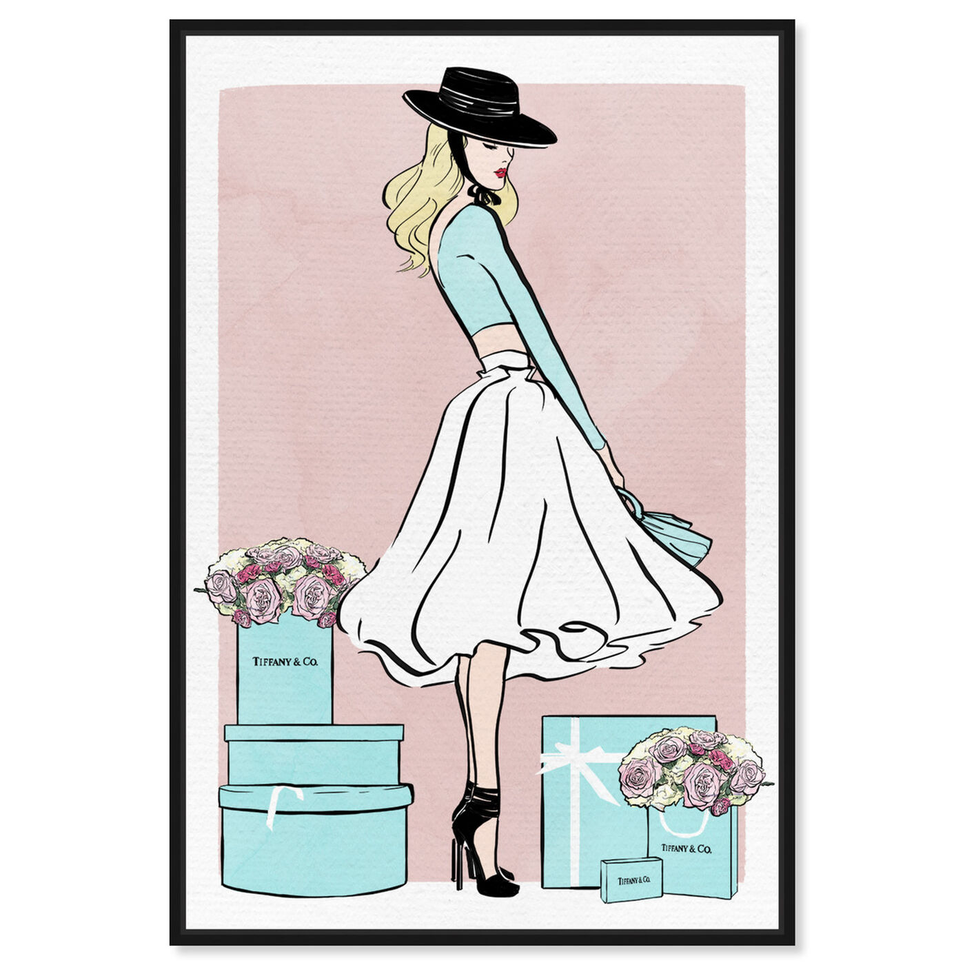 Front view of Floral Shopper Blush featuring fashion and glam and outfits art.