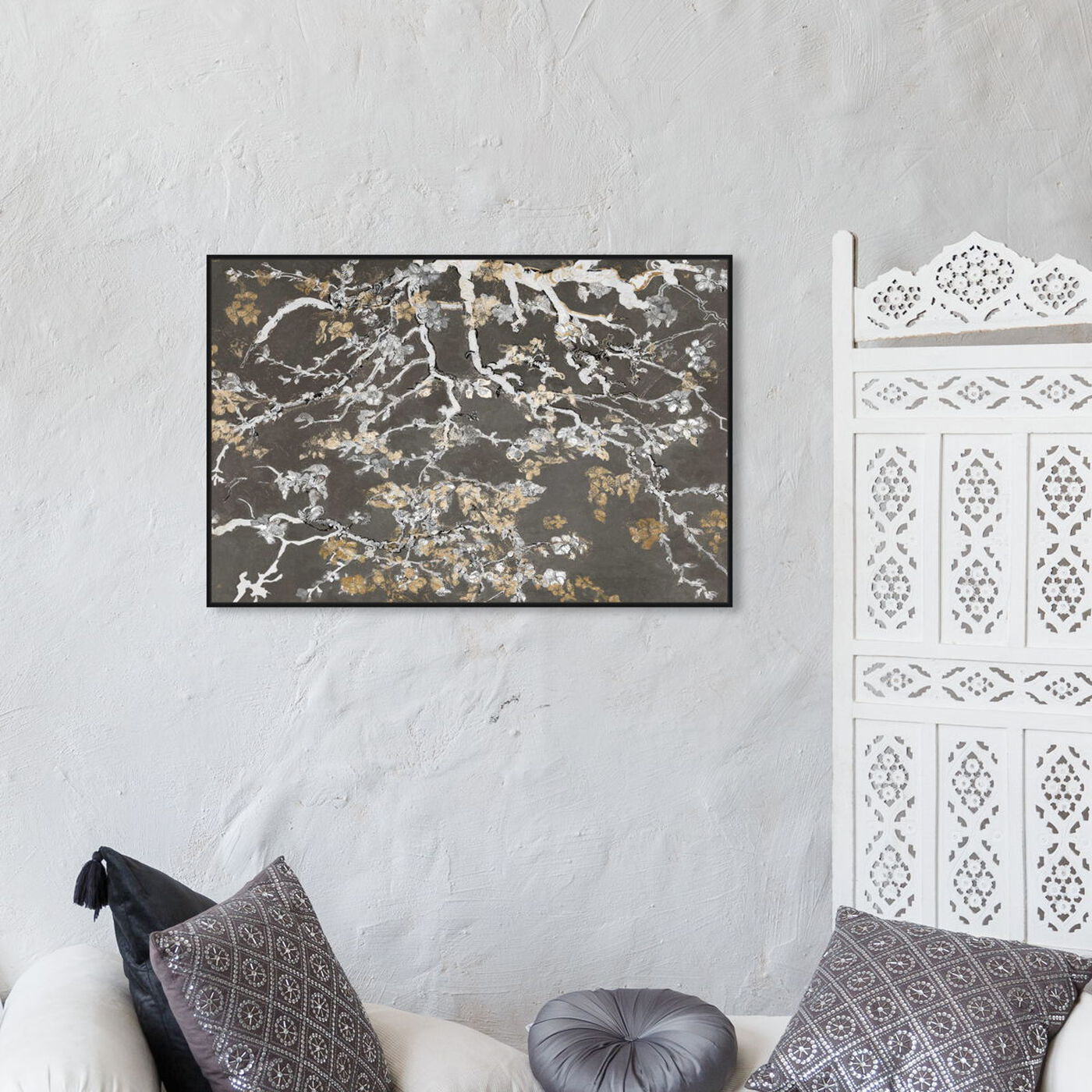 Hanging view of Van Gogh Charcoal Blossoms Inspiration featuring classic and figurative and classical figures art.