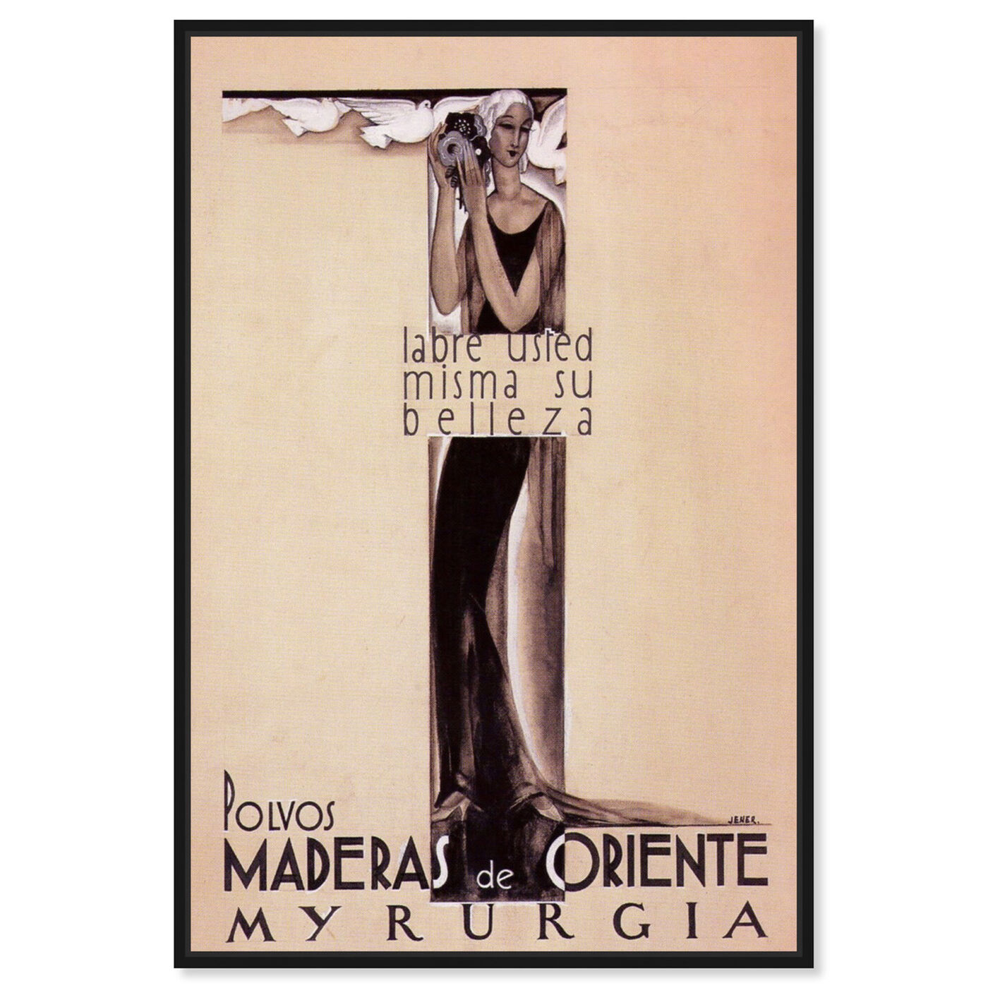 Front view of Maderas de Oriente Vintage Ad featuring advertising and posters art.