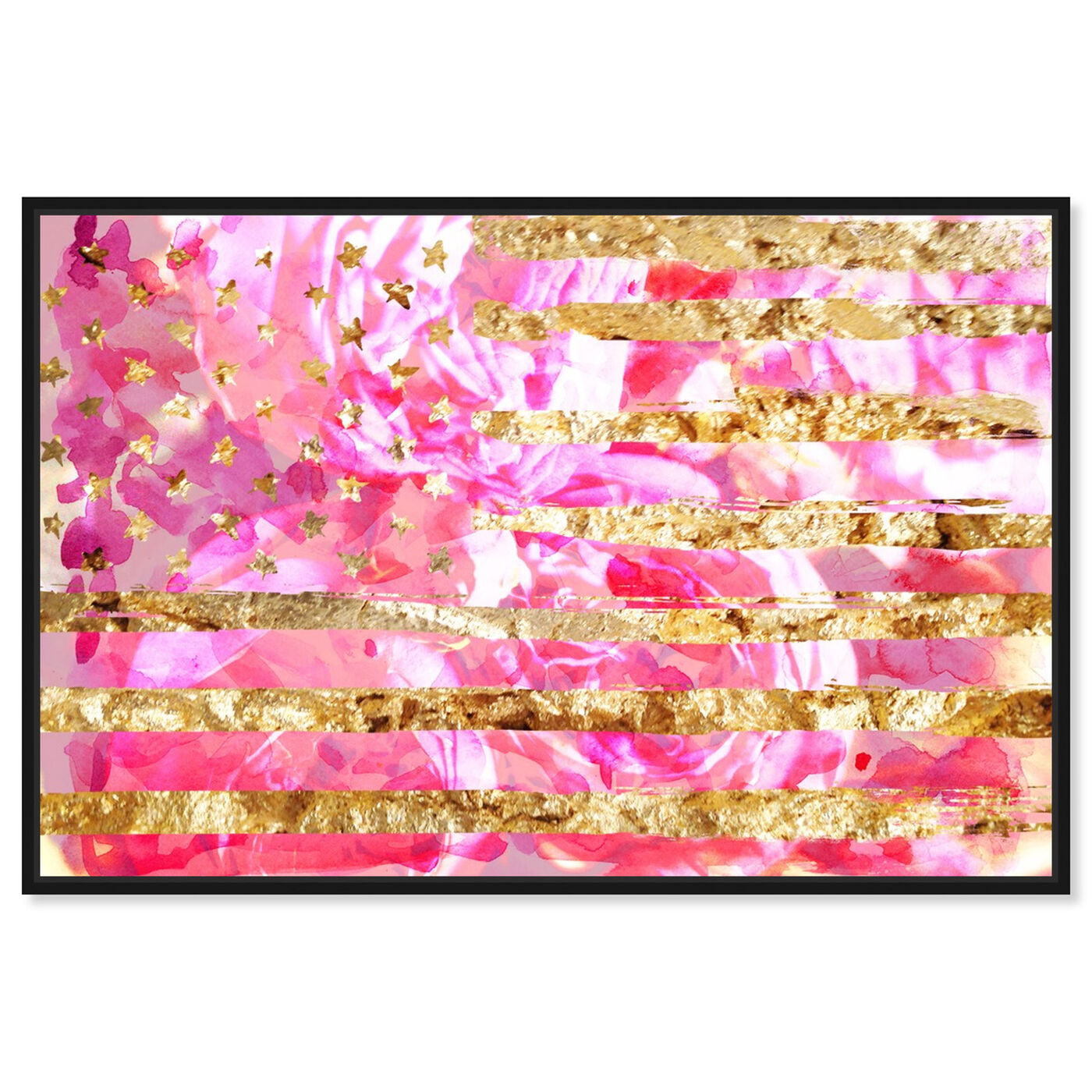 Front view of My America Pink featuring americana and patriotic and us flags art.