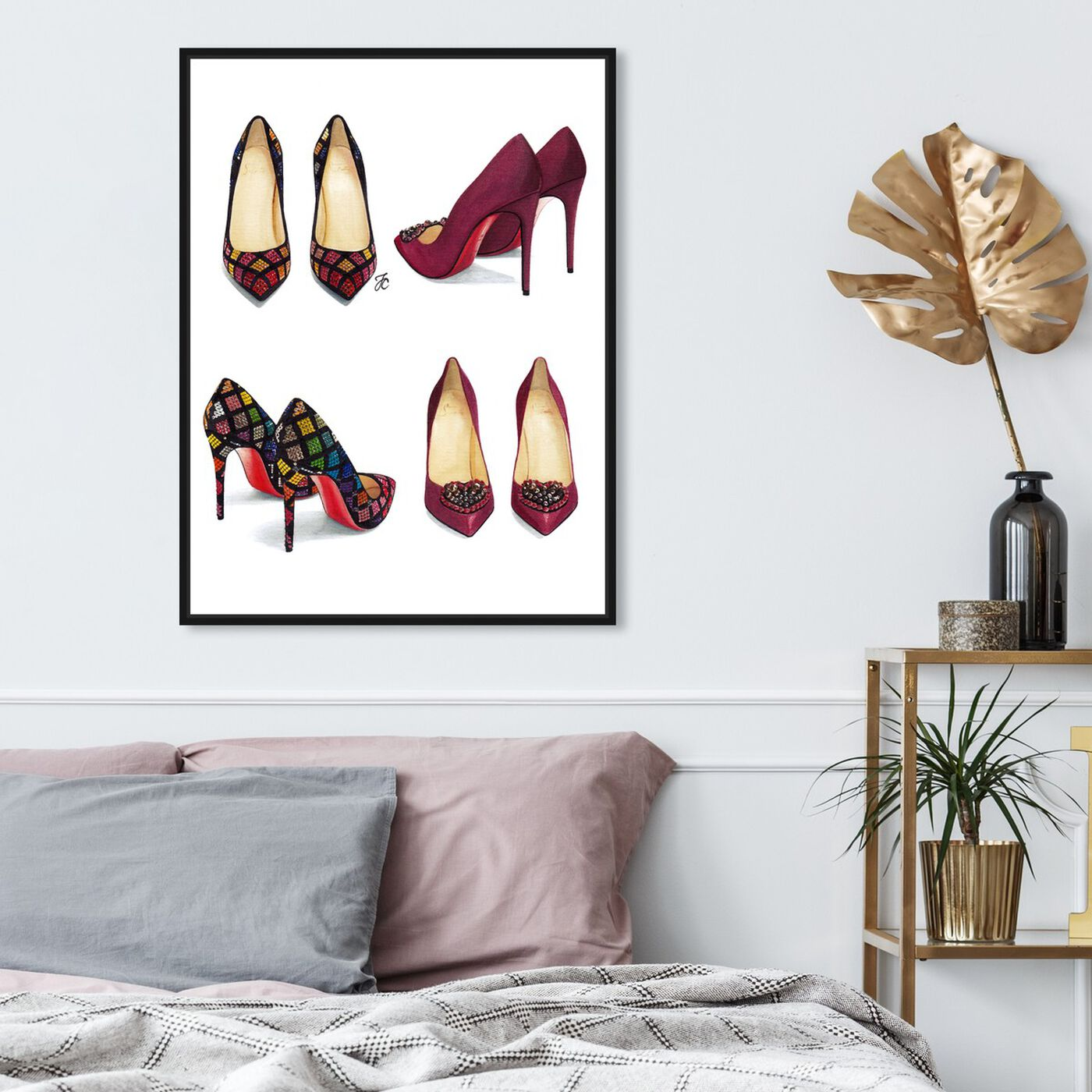 Hanging view of Doll Memories - My Shoe Closet featuring fashion and glam and shoes art.