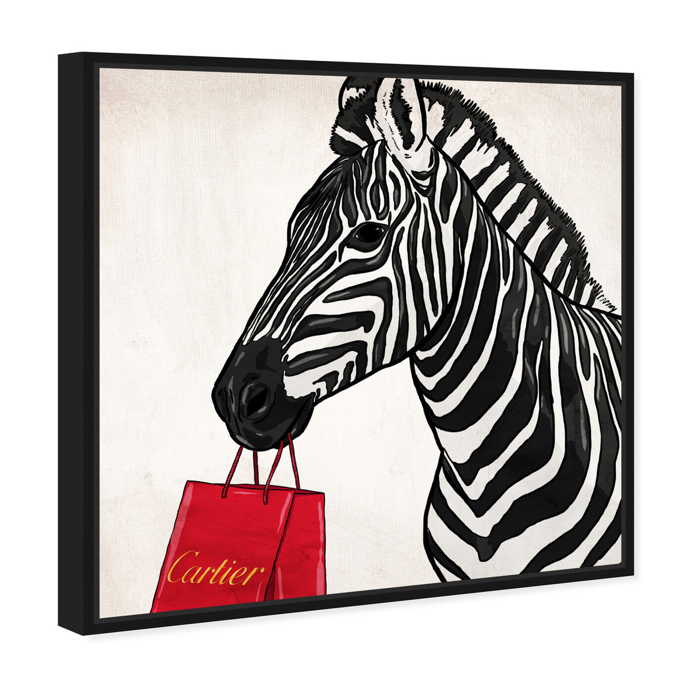Angled view of Expensive Zebra featuring fashion and glam and fashion art.