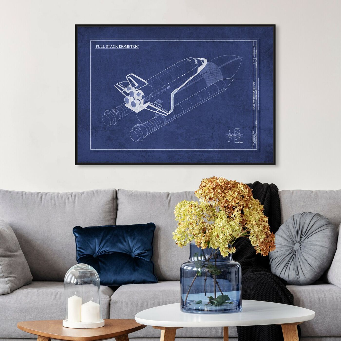 Hanging view of Discovery V2 featuring transportation and air transportation art.
