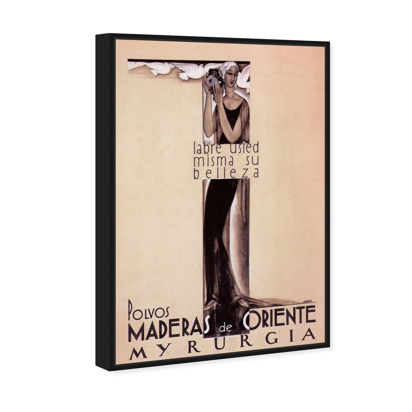 Angled view of Maderas de Oriente Vintage Ad featuring advertising and posters art.