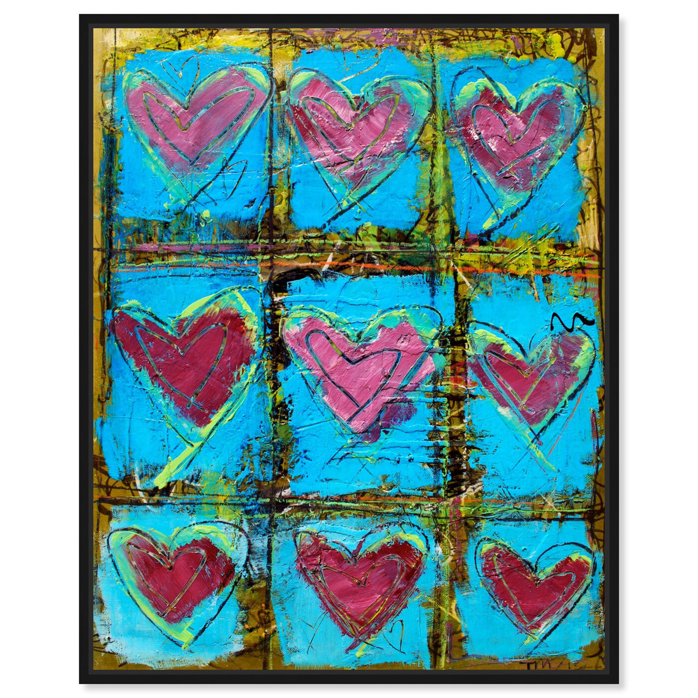 Front view of LoveTEAL by Tiago Magro featuring abstract and textures art.