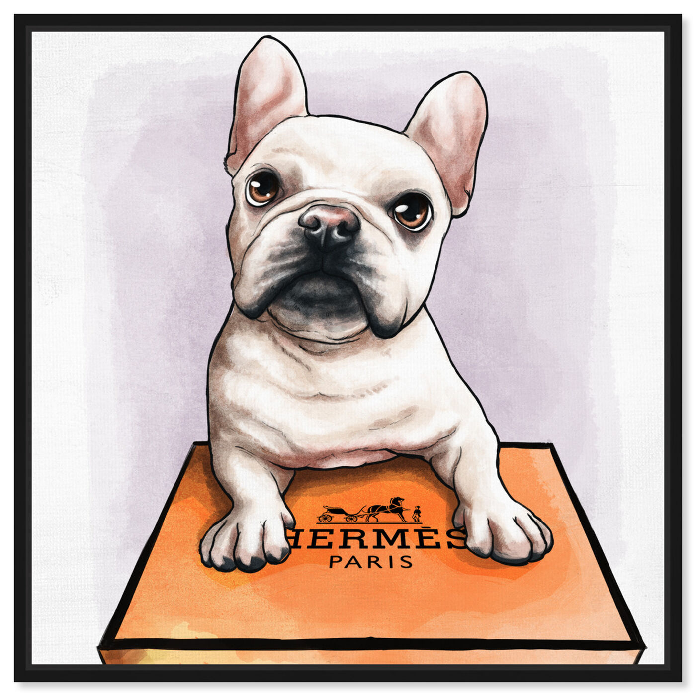 Front view of Treasure Box Frenchie featuring fashion and glam and fashion art.