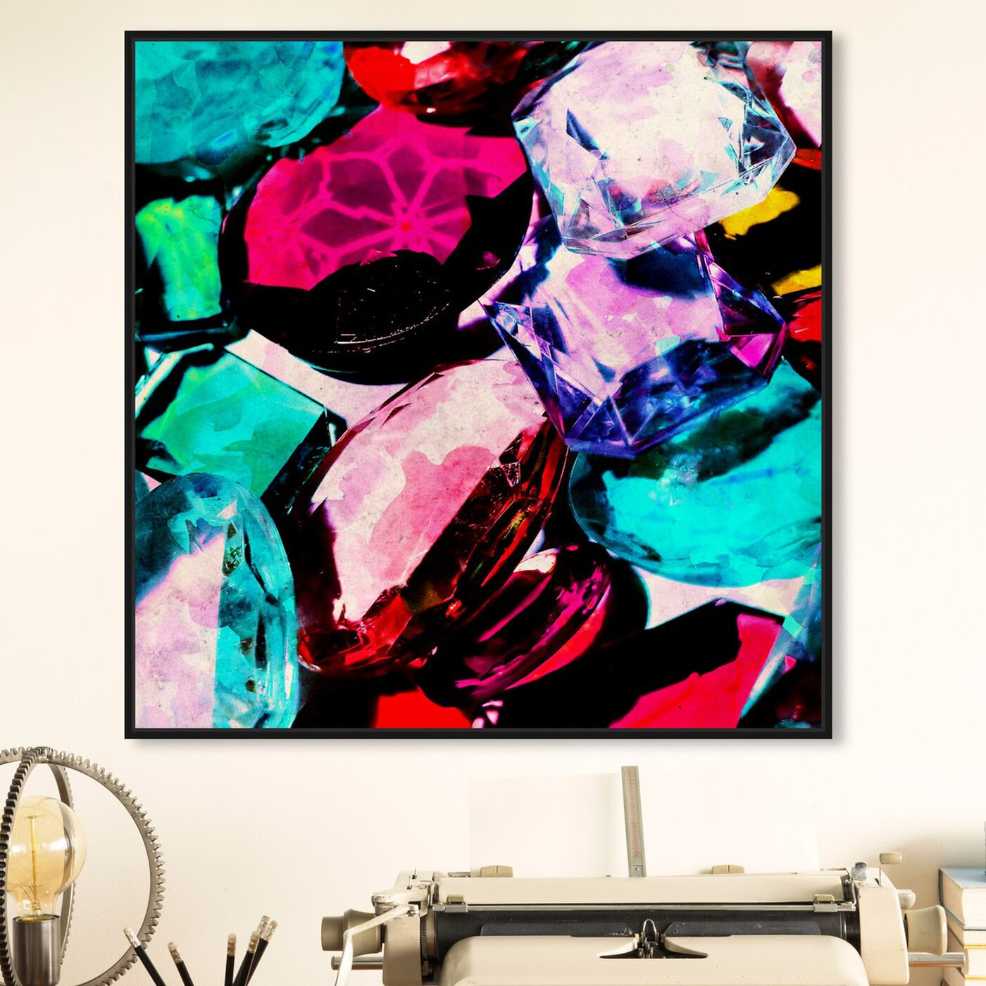 Hanging view of Crown Jewels  featuring abstract and crystals art.