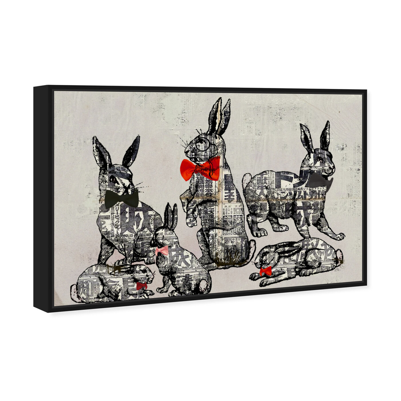 Angled view of Suit and Tie featuring animals and farm animals art.