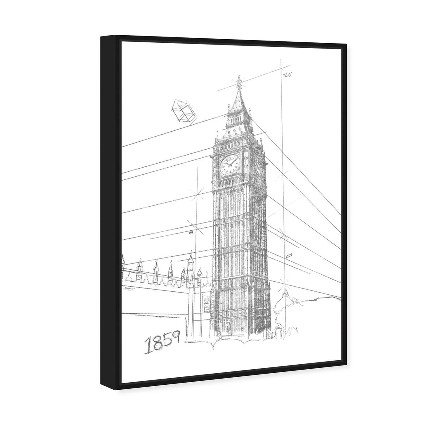Angled view of Big Ben Silver featuring architecture and buildings and european buildings art.