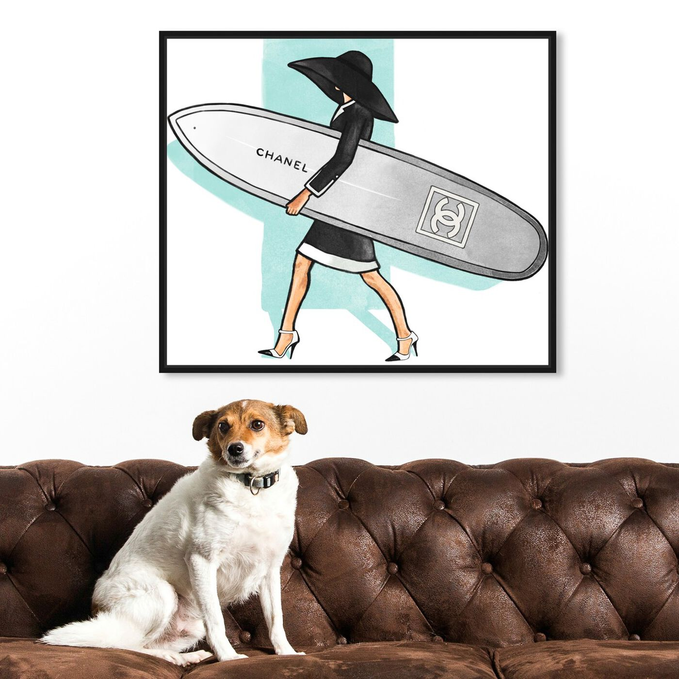 Hanging view of Surfer Girl II featuring fashion and glam and lifestyle art.