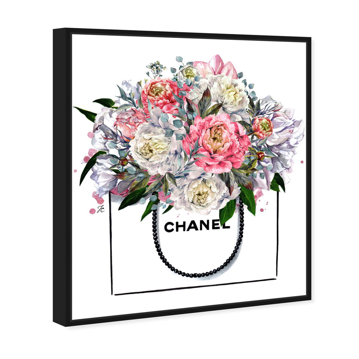 Angled view of Doll Memories - Flowers and Peonies featuring floral and botanical and florals art.