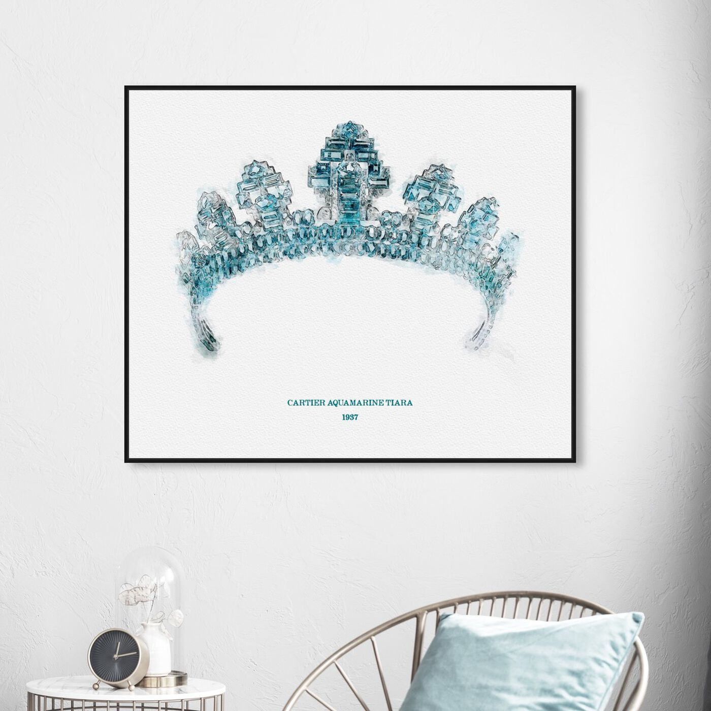 Hanging view of Aquamarine Tiara 1937 featuring fantasy and sci-fi and fairy tales art.