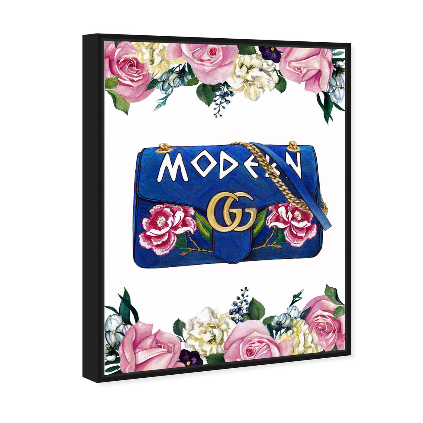 Angled view of Doll Memories - Modern featuring fashion and glam and handbags art.