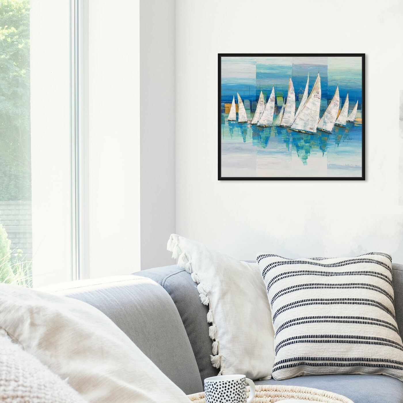 Hanging view of Sai - Speculum Oceano 3LR1345 featuring nautical and coastal and coastal art.