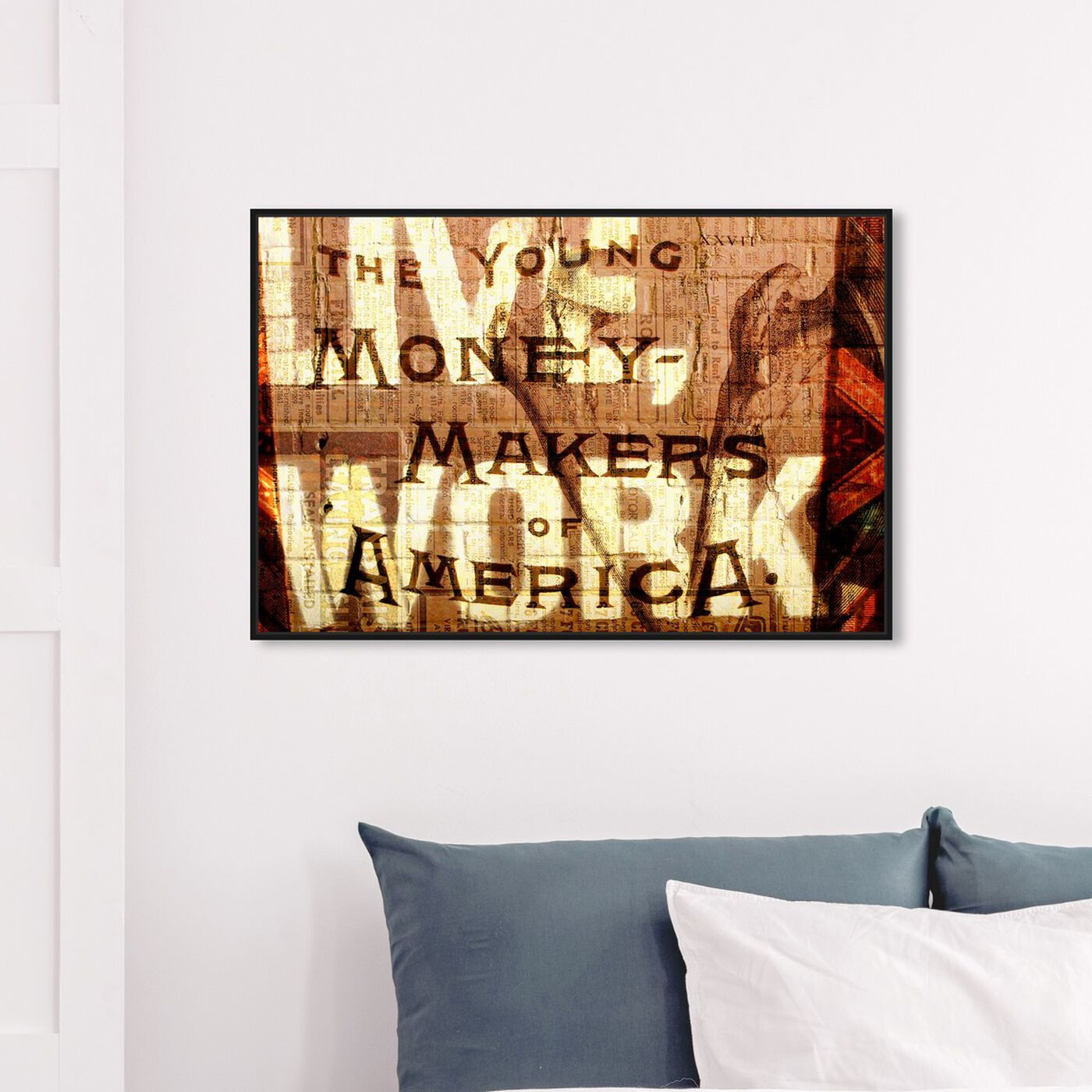 Hanging view of Young Money Makers featuring typography and quotes and inspirational quotes and sayings art.