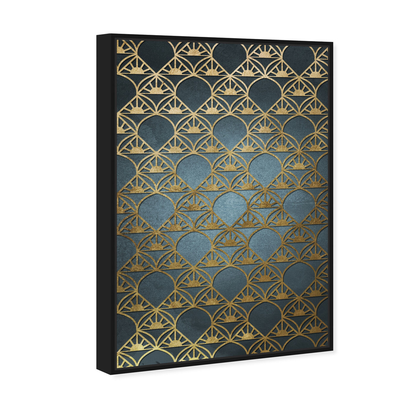 Angled view of Gold Deco featuring abstract and patterns art.