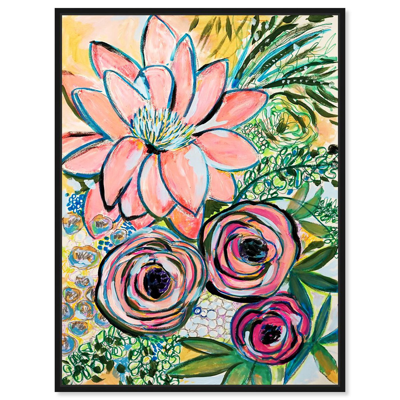 Front view of Rosalina - Peonies Party of Two featuring floral and botanical and florals art.