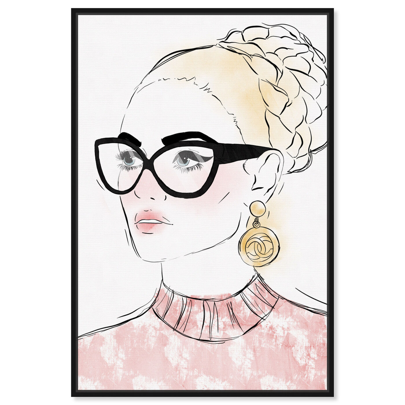 Front view of Boss Look featuring fashion and glam and portraits art.