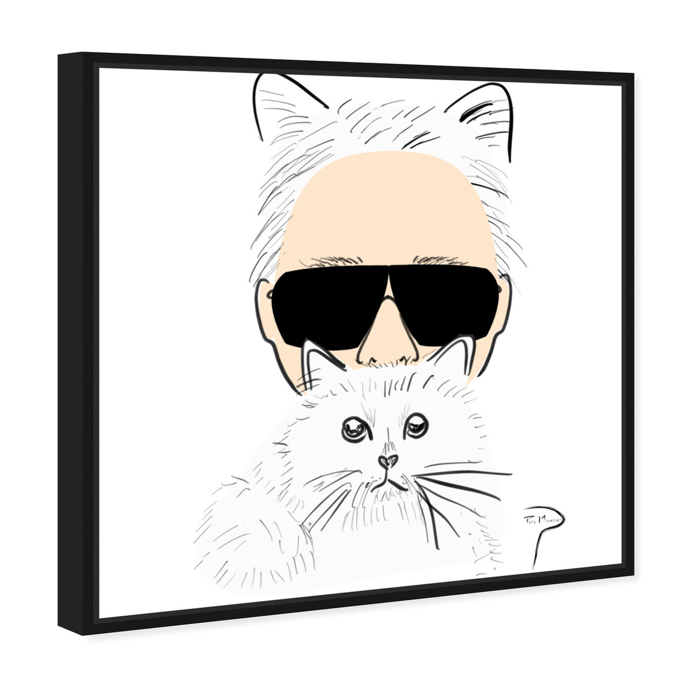 Angled view of Pily Montiel - Furry Fashion Kat featuring fashion and glam and accessories art.