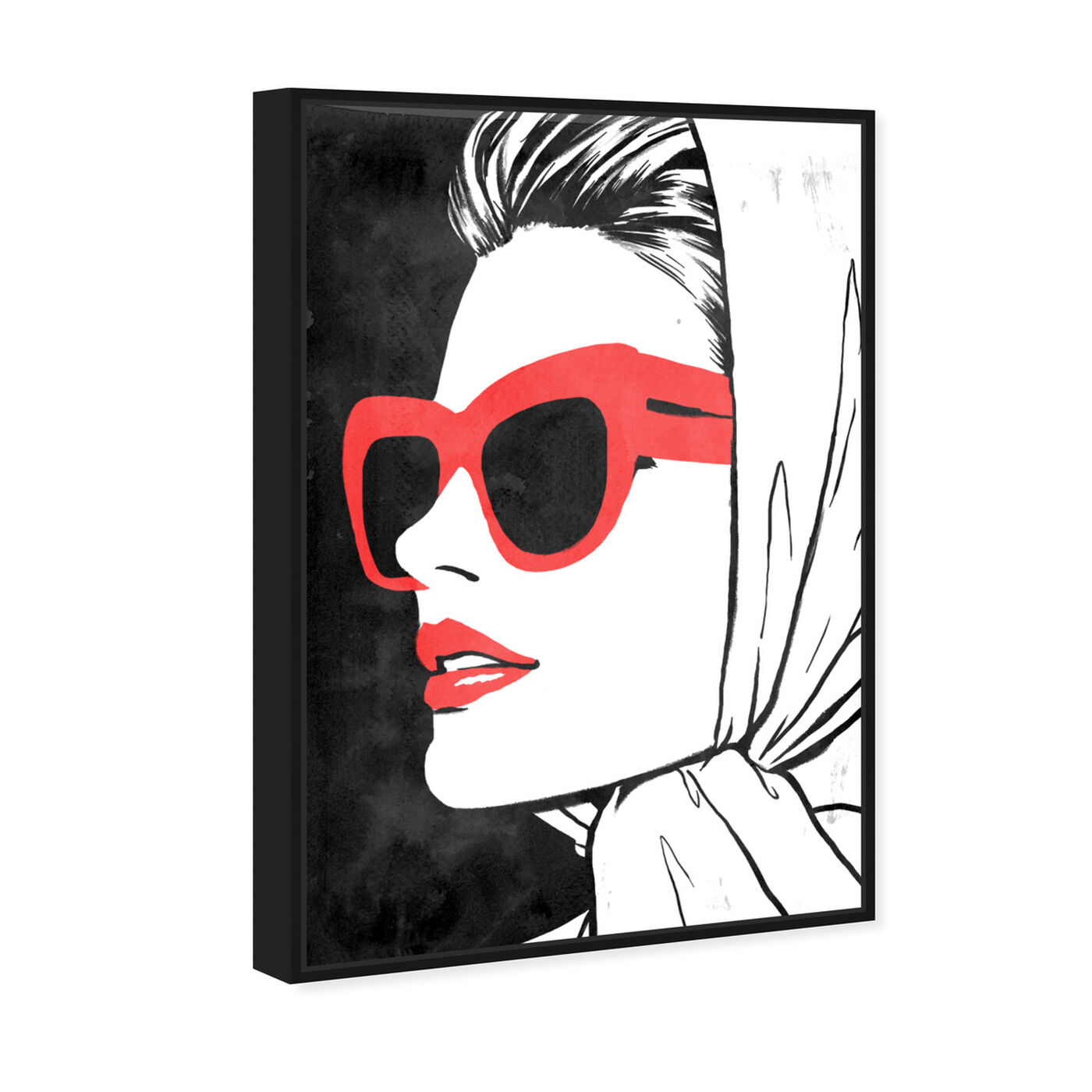 Angled view of Retro Glam II II featuring fashion and glam and portraits art.