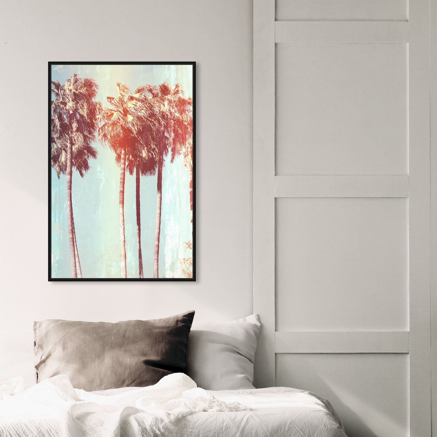 Hanging view of Palm Tree Dream featuring floral and botanical and trees art.