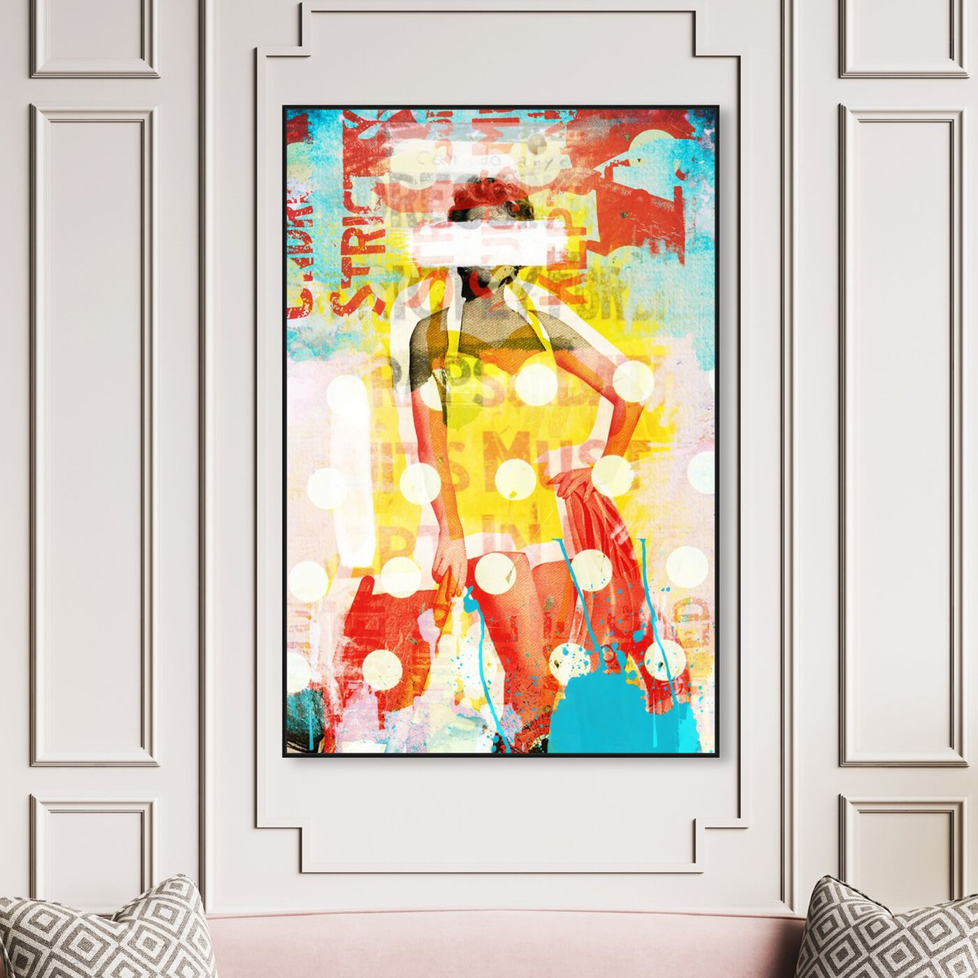 Hanging view of Beach Beauty Vertical featuring advertising and posters art.