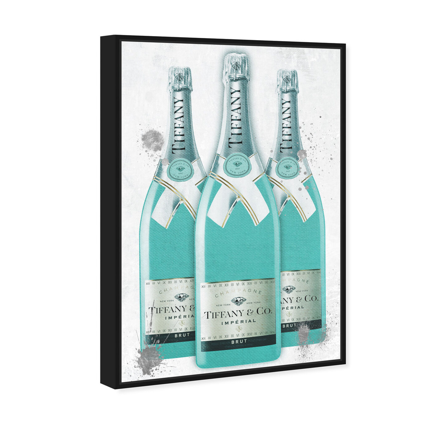 Angled view of Diamonds and Bubbles Champagne featuring fashion and glam and lifestyle art.