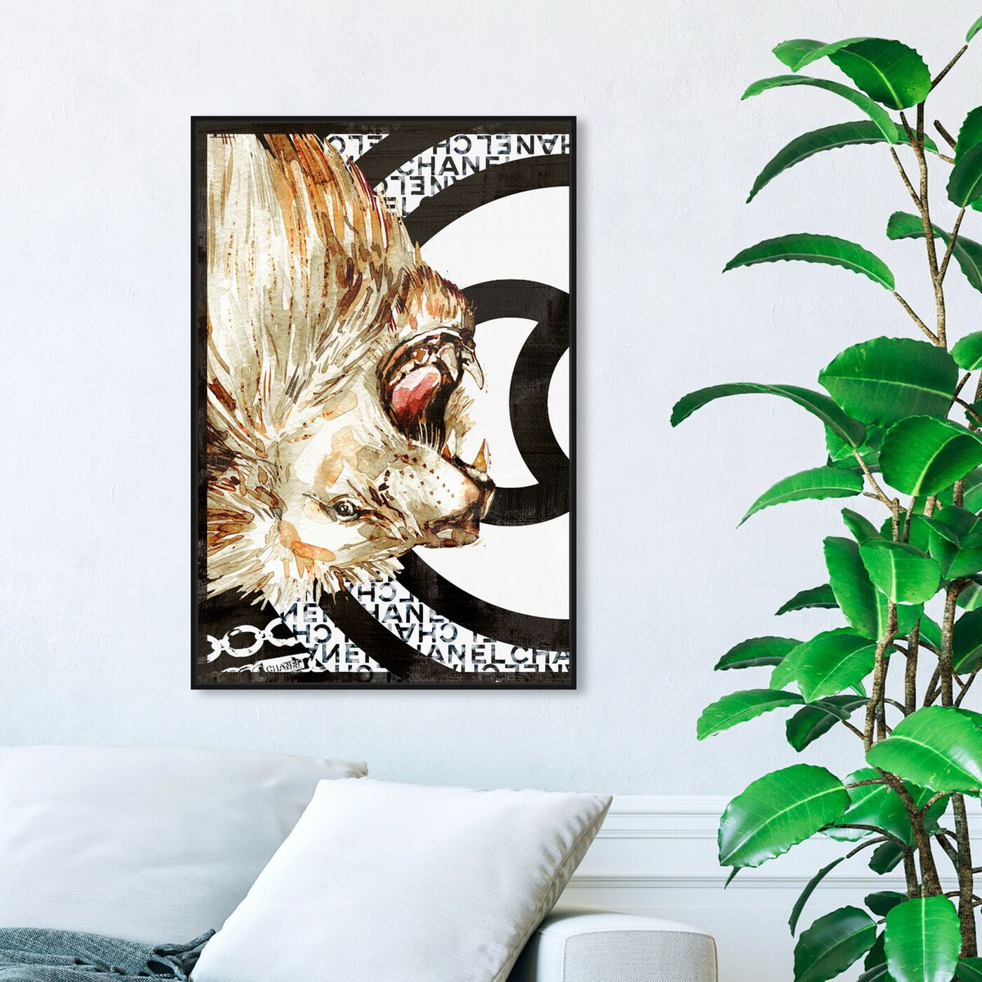 Hanging view of Lion Effect Symbol I featuring fashion and glam and lifestyle art.