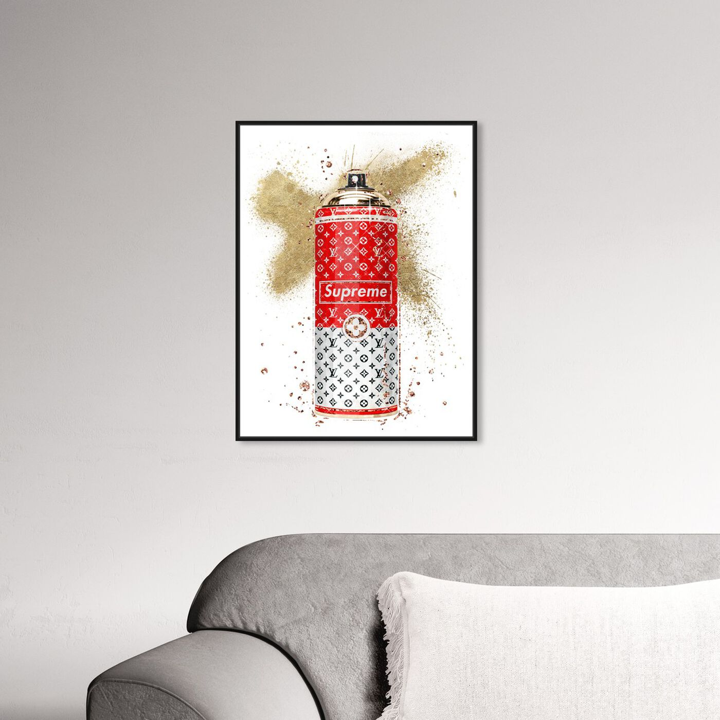 Hanging view of Glam Spray Red featuring fashion and glam and lifestyle art.
