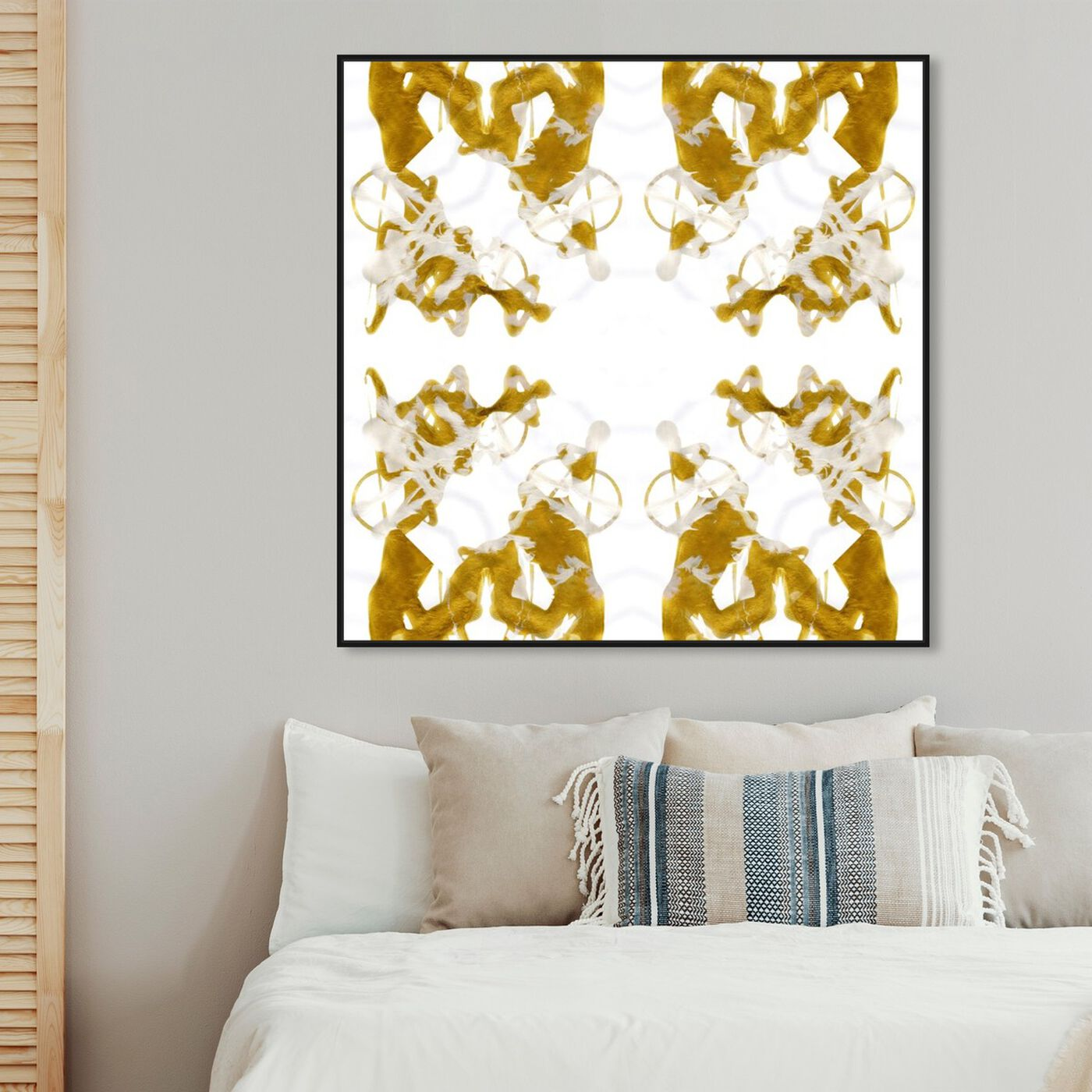 Hanging view of Empress  featuring abstract and textures art.