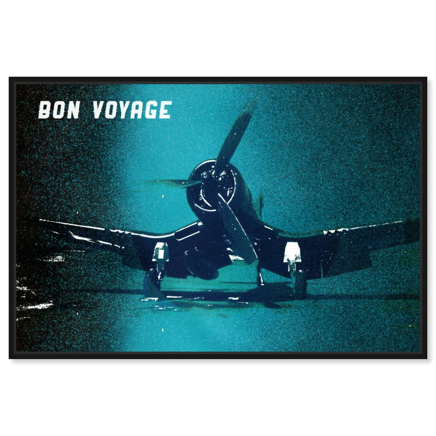 Front view of Bon Voyage featuring transportation and airplanes art.