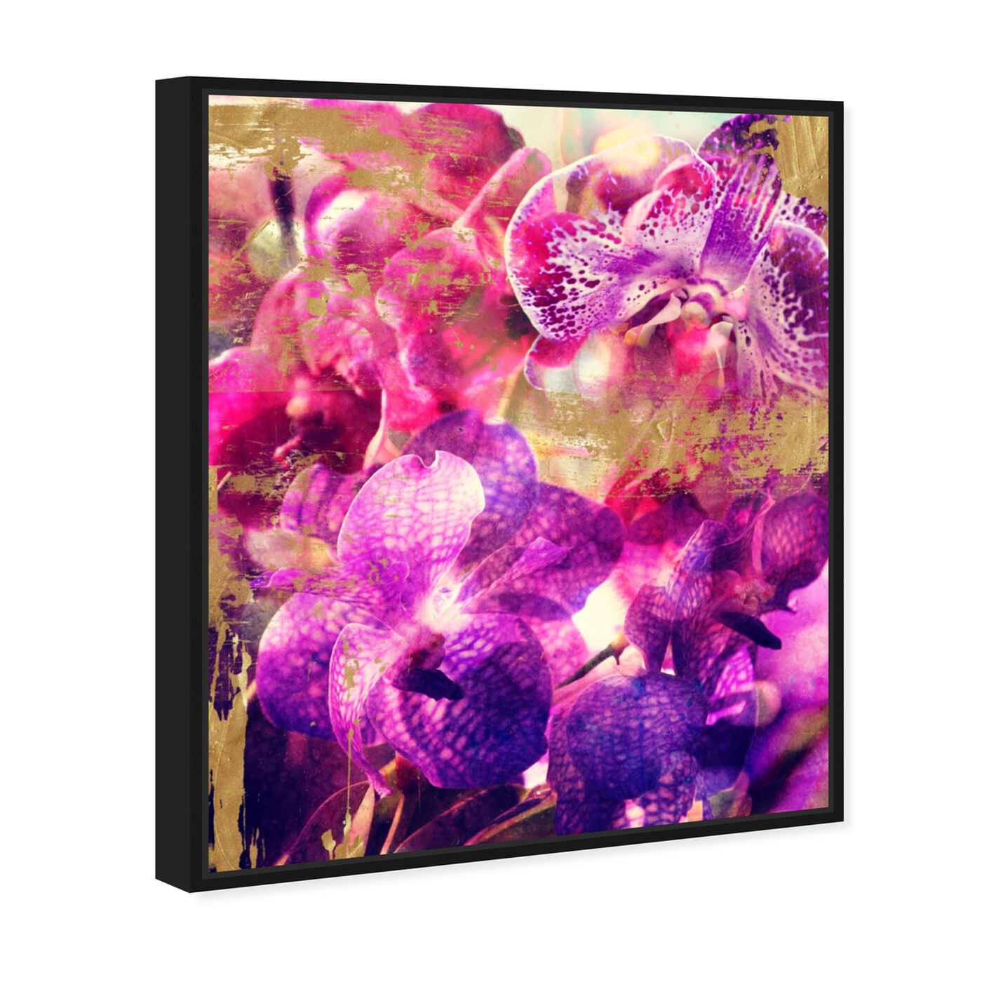 Angled view of Orchid Gold featuring floral and botanical and florals art.