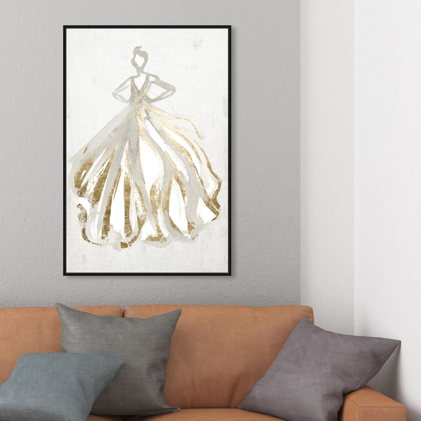 Hanging view of Elegant Dress Flow III featuring fashion and glam and dress art.