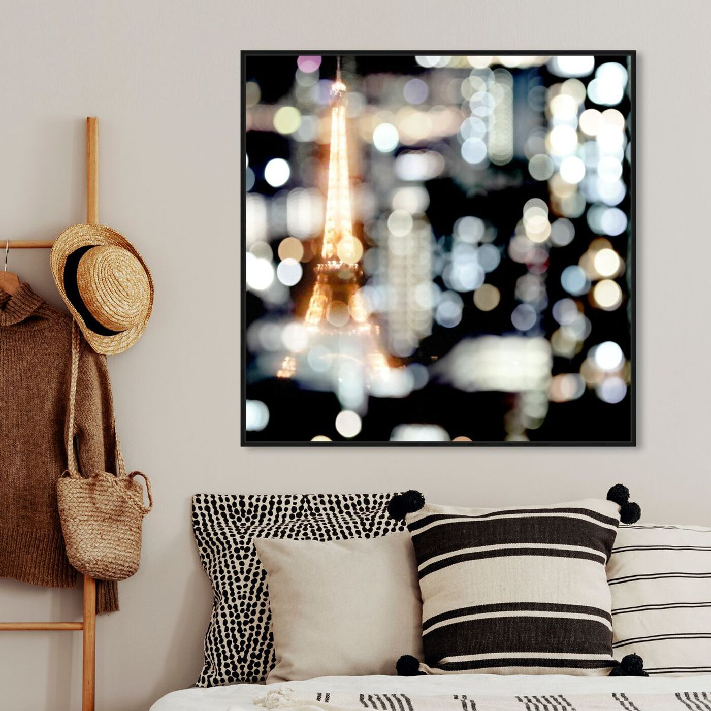 Hanging view of Paris Soiree featuring cities and skylines and european cities art.