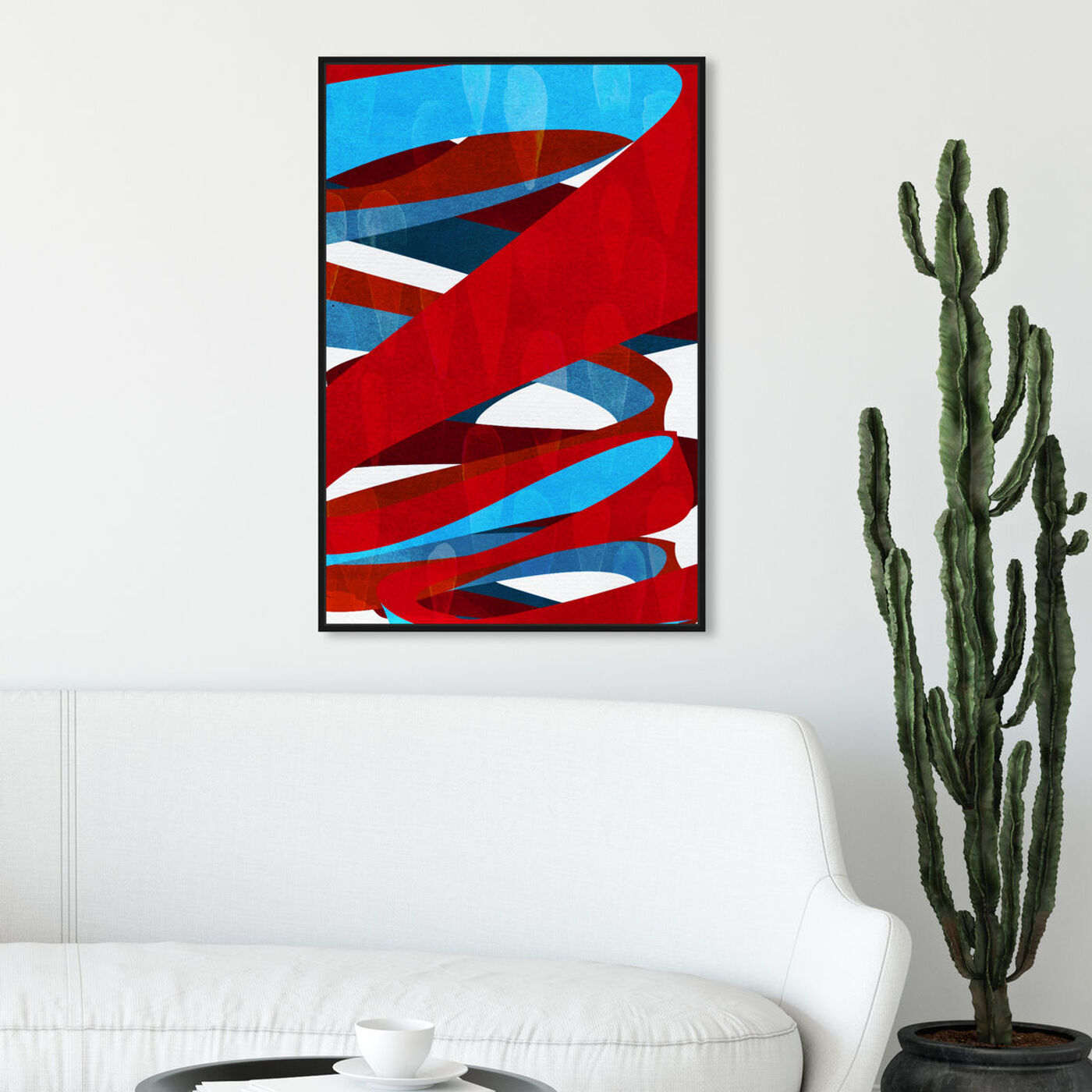 Hanging view of Spiral Paths featuring abstract and patterns art.